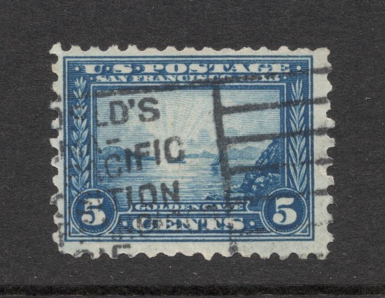 US#403 Blue - Panama-Pacific Exposition Cancel