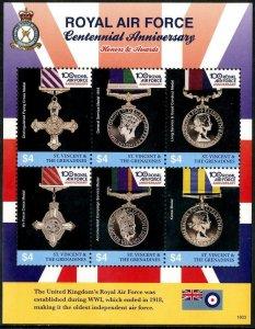 HERRICKSTAMP NEW ISSUES ST. VINCENT Royal Air Force Sheetlet #2