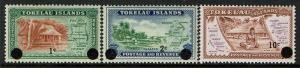 Tokelau Islands Scott 9-11 MNH (1967) Map and Scene