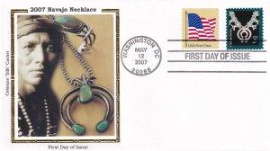 2007, Navajo Necklace, Colorano Silk, FDC (E11871)