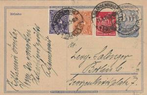 WEIMAR REPUBLIC 1920 - 23 MULTI STAMPS POST CARD  REF 6524