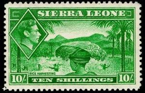 SIERRA LEONE SG199, 10s emerald-green, VLH MINT. Cat £35.