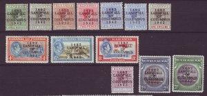 J24102 JLstamps 1942 bahamas part set mh/mhr #116-28 ovpt,s