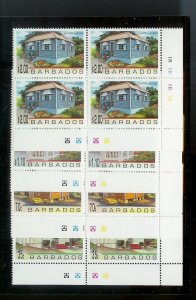 BARBADOS Sc#922-925 Complete Mint Never Hinged PLATE BLOCK Set