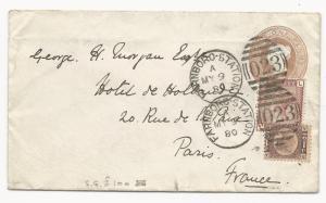 GREAT BRITAIN Scott #58 Pl #20 (Rare) on Cover Farnboro Station 1880