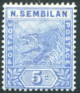 SUNGEI UJONG-1894 5c Blue Sg 4 AVERAGE MOUNTED MINT V31425