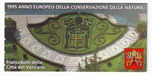 Z773 JLstamps 1995 vatican city mnh complete bklt #984a 4 panes