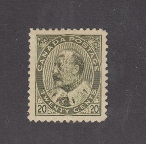 CANADA (KK69) # 94 VF-MH KEV11 20cts OLIVE GREEN CAT VALUE $1250
