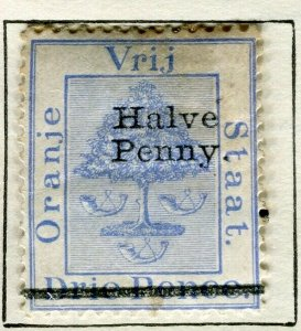 ORANGE FREE STATE; 1894 early classic QV issue mint HALVE PENNY. value