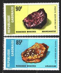 Gabon. 1971. 443-44. Minerals, geology. MNH.