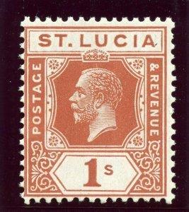 St Lucia 1921 KGV 1s orange-brown superb MNH. SG 103. Sc 87.