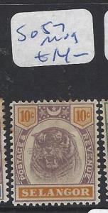 MALAYA SELANGOR  (P1111B)   TIGER 10C  SG 57  MOG