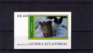 Equatorial Guinea Dog Chihuahua s/s Imperforated mnh.vf