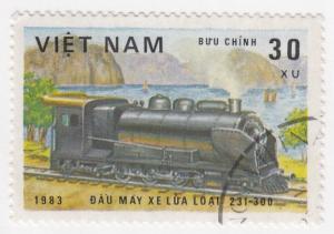 Viet Nam, Sc # 1254, CTO-NH, 1983, Locomotive