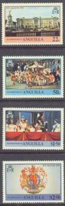 ANGUILLA 315-18 MNH 1978 Coronation Anniversary