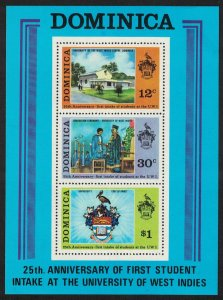 Dominica 25th Anniversary of West Indies University MS SG#MS414