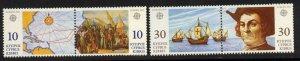 Cyprus 799a,801a MNH Christopher Columbus, Ships, Map