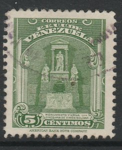 Venezuela 1947 5c used South America A4P53F39