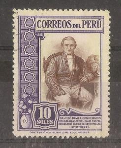 Peru 1936 10s Condemarin SG595 Fine Used