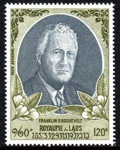 Laos C68, MNH. Franklin D. Roosevelt, 1970
