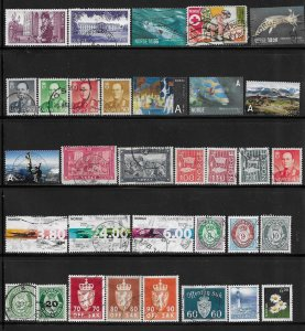 12231 -  Norway 30 diff. stamps - good starter collection