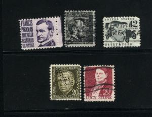 USA # 1281, 82, 86A, 89, 93   3 used 1965-78 PD