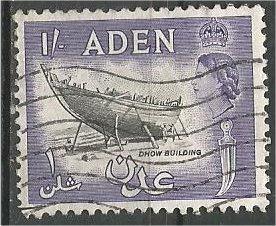ADEN, 1955, used 1sh, Colony Badge Scott 55A