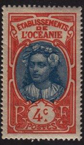 French Polynesia 23 Tahitian Girl 1913