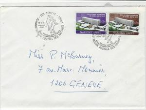Geneva United Nations 1974  stamps cover ref 21663