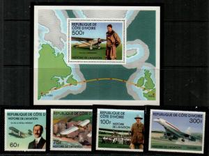 Ivory Coast Scott 434-9 Mint NH (Catalog Value $18.60)