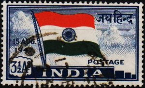India. 1947 3 1/2a S.G.302 Fine Used