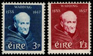 IRELAND SG170-171, 1957 Father Luke Wadding SET, UNMOUNTED MINT. Cat £17.