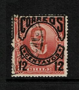 Chile SC# 67c Used / Double Lower Overprint (?) / Hinge Rem - S7376