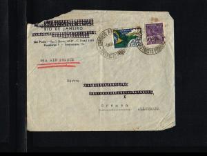 1936 - Brasil Cover - To Bremen [B06_112]