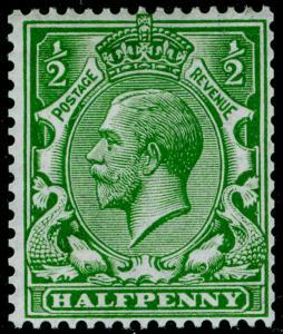 SG397, ½d bright green, LH MINT. Cat £150.