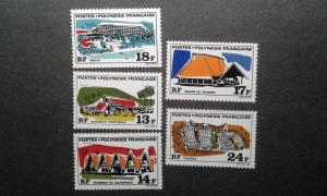 French Polynesia #253-257 MNH