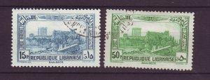 J24001 JLstamps 1937-40 lebanon used #c71,c73 airmails