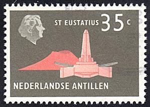 Netherlands Antilles # 251 used ~ 35¢ Obelisk, St. Eustatius