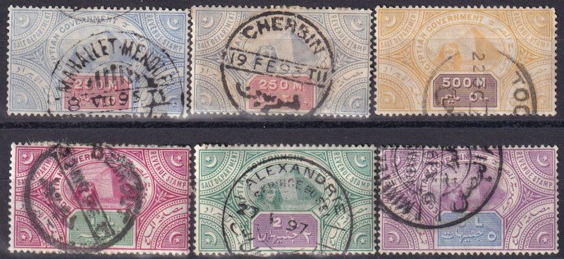 Egypt Salt Duty Stamps  1890  (Z3738)