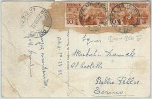 71616 - ITALIA COLONIE: Etiopia - CARTOLINA annullo POSTA MILITARE N. 130 E 1937