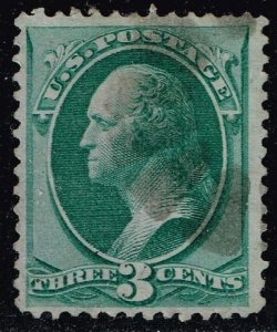 US STAMP #136 1870-71 3¢ Washington National Bank Note Printing Grill USED