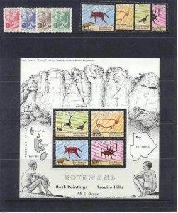 Botswana MNH lot Animals,8v+s/s,SCV22.75
