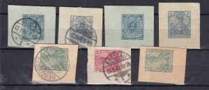 GE:  old REICHPOST ^^^mint & used CLASSICS GERMANIAS  postal cards $$@dcc663ge63