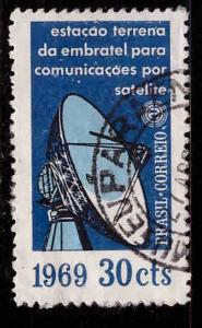 Brazil Scott 1114 Used from antenna stamp