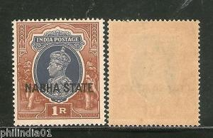 India NABHA State 1Re Postage KG VI SG 89 / Sc 81 Cat £14 MNH