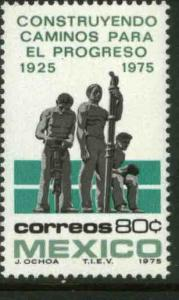 MEXICO 1108, 80¢ 50th Anniversary of road building MINT, NH. VF.