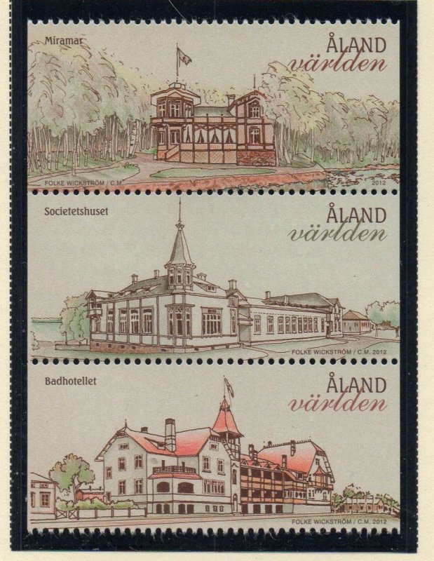 Aland Finland Sc 334 2012 Architecture stamp set  mint NH