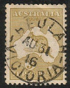 AUSTRALIA 1916 3d SG37 BEULAH  / VICTORIA cds..............................15190