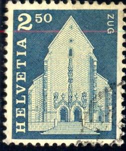 St. Oswald's Church, Switzerland stamp SC#454 Used