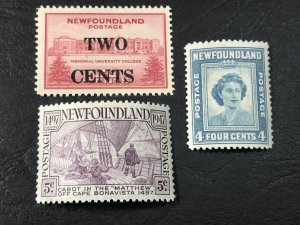 NEW FOUNDLAND # 268-270-MINT NEVER/HINGED--------1946-47